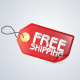 Free Shipping Tag Icon - GraphicRiver Item for Sale
