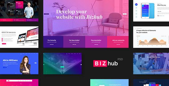 BIZhub – Mega PSD Pack