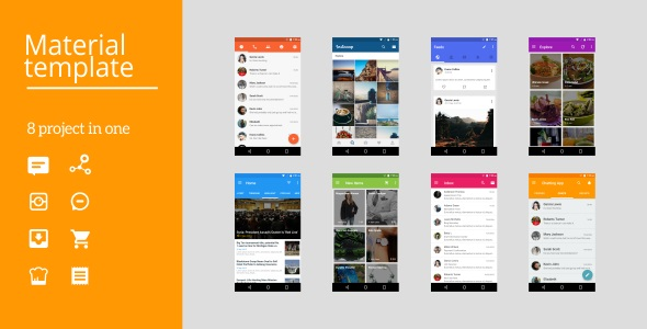 Android Material UI Template 2.1 - CodeCanyon Item for Sale