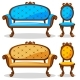 Cartoon Colorful Retro Chair And Sofa - GraphicRiver Item for Sale