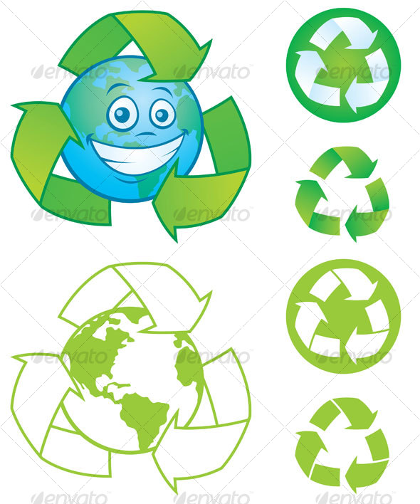 Recycle Symbols - Decorative Symbols Decorative