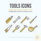 8 Tools Icons - GraphicRiver Item for Sale