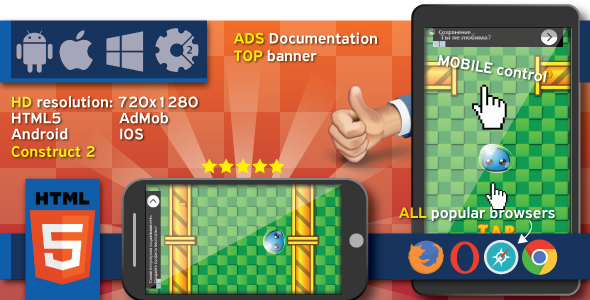 Crazy Jump 2 - HTML5 game. Construct 2 (.capx) + ADS - CodeCanyon Item for Sale