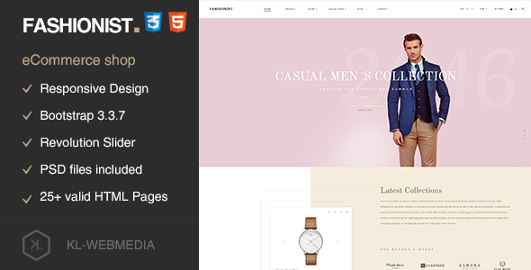 Fashionist – eCommerce Fashion HTML5 Template