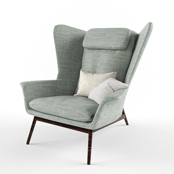 Download Boconcept Hamilton Armchair 3D Model - 3DOcean Item for Sale