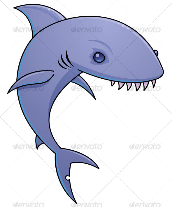 Cartoon Shark Character - Animals Characters