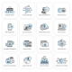 Flat Design Security And Protection Icons Set. - GraphicRiver Item for Sale