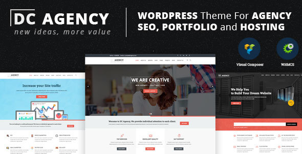 WordPress Theme For Creative Agency, Hosting, SEO, Portfolio and  Consultancy