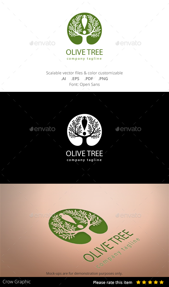 Olive Tree - Nature Logo Templates