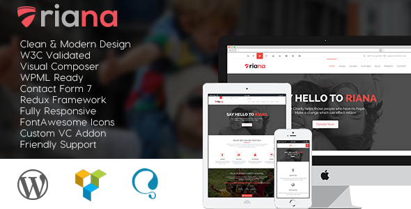 Riana - WordPress Charity Theme