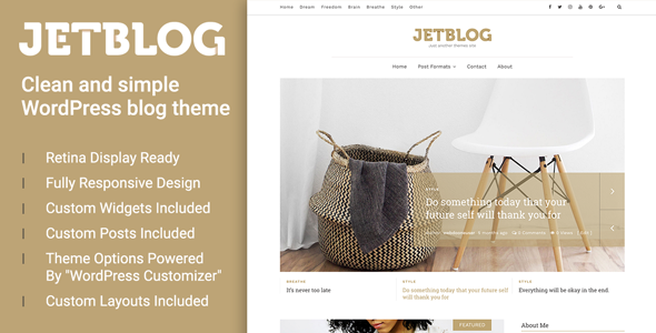 Jetblog – Clean & Simple WordPress Blog Theme