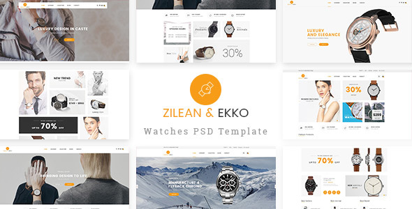 St Luxury Watch PSD Template