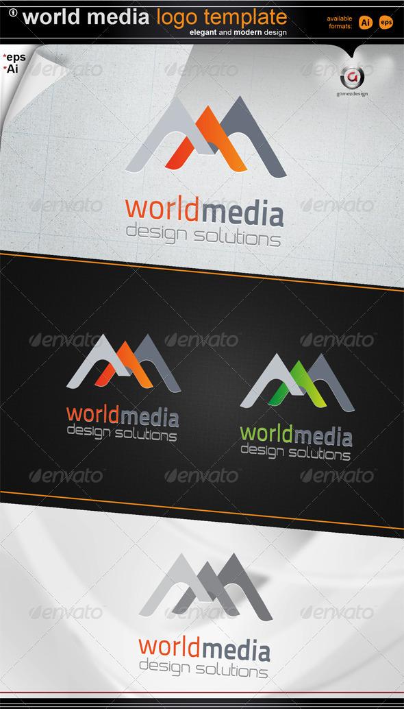 world media design - Letters Logo Templates