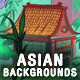 3 Asian / Ninja Game Backgrounds - Parallax and Tileable - GraphicRiver Item for Sale