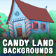 3 Candy Land Cartoon Game Backgrounds - Parallax and Tileable - GraphicRiver Item for Sale