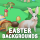 5 Easter Video Game Backgrounds - Parallax and Tileable - GraphicRiver Item for Sale
