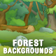 6 Season Forest Game Backgrounds - Parallax and Tileable - GraphicRiver Item for Sale