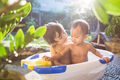 two babies taking a bath together - PhotoDune Item for Sale