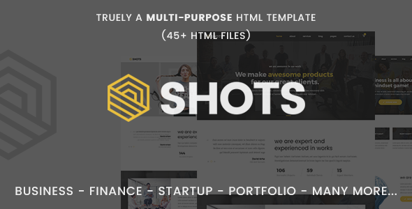 Shots - Responsive Multi-Purpose HTML5 Template