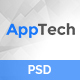 AppTech - App Landing PSD Template - ThemeForest Item for Sale