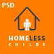 Homeless Childs - Charity Psd Template Nulled