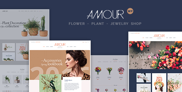 Amour – Shop WordPress theme – Flower – Jewelry – Handmade – Gift