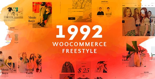 1992 - Freestyle WordPress Theme - Modern WooCommerce Store