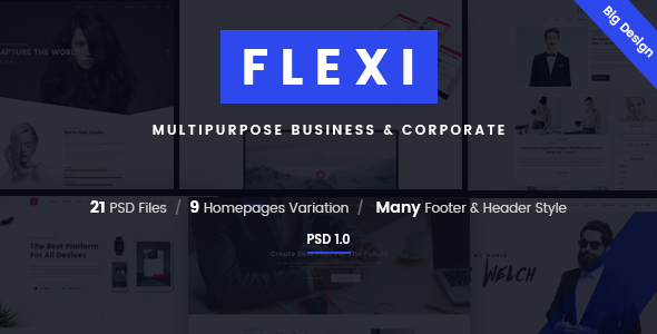 Flexi – Multipurpose Business & Corporate PSD Template
