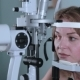 Young Woman Having Her Eyes Examined With Modern Medical Equipment. - VideoHive Item for Sale