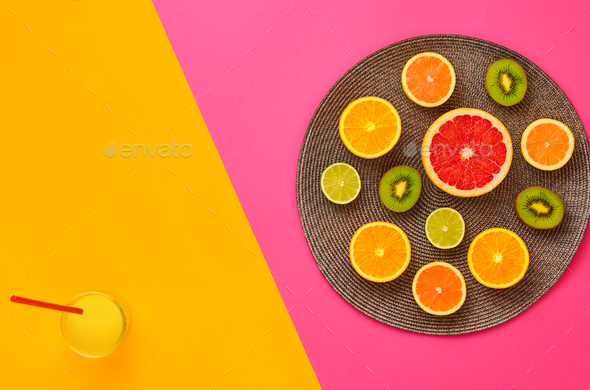 Fashion Summer Tropical fruit. Minimal Art Concept - Stock Photo - Images