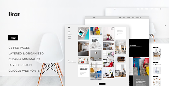 Ikar - Blog/Magazine PSD Template - PSD Templates