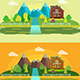 Flat Design Nature Landscape Illustration  - GraphicRiver Item for Sale