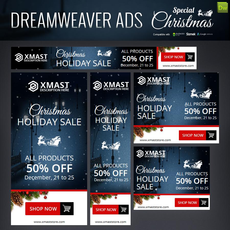 Special Christmas Dreamweaver Ads
