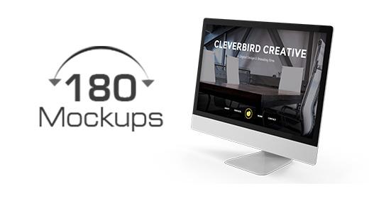 180 Responsive Mockups - Web Ui preview