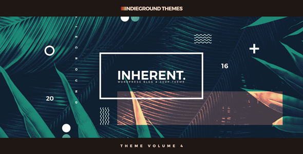 Inherent – Creative WordPress Blog & Shop Theme