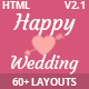 HappyWedding - Beautiful Wedding Event & Planner Responsive HTML5 Template Nulled