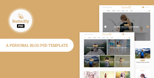 Butterfly- Personal Blog PSD Template - Personal PSD Templates