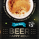 Beer Happy Hour Flyer - GraphicRiver Item for Sale