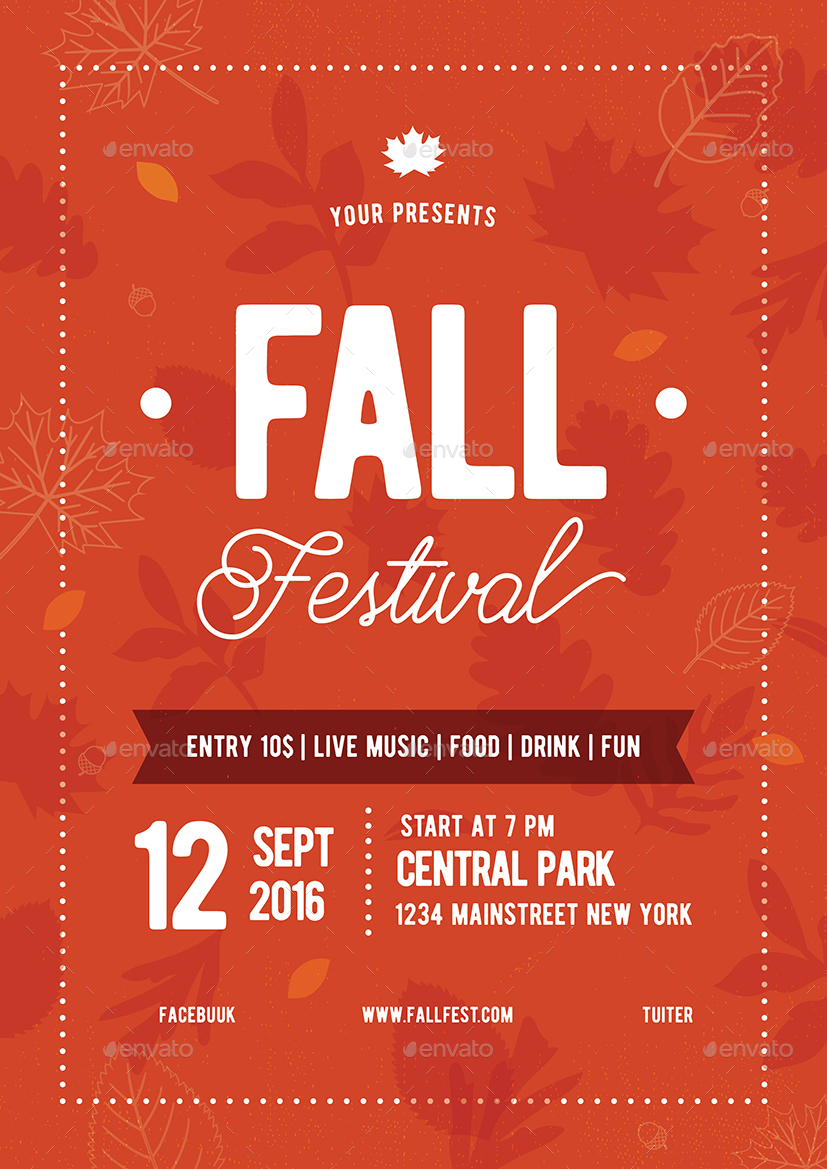 Fall Festival Flyer 02 by vynetta | GraphicRiver