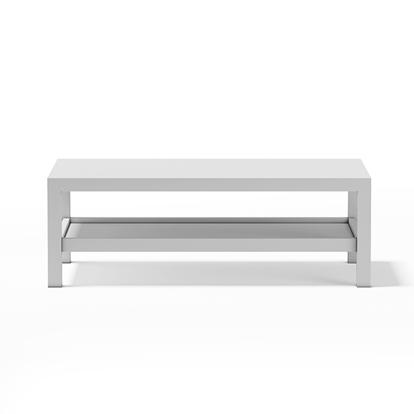 White Rectangular Coffee Table - 3DOcean Item for Sale