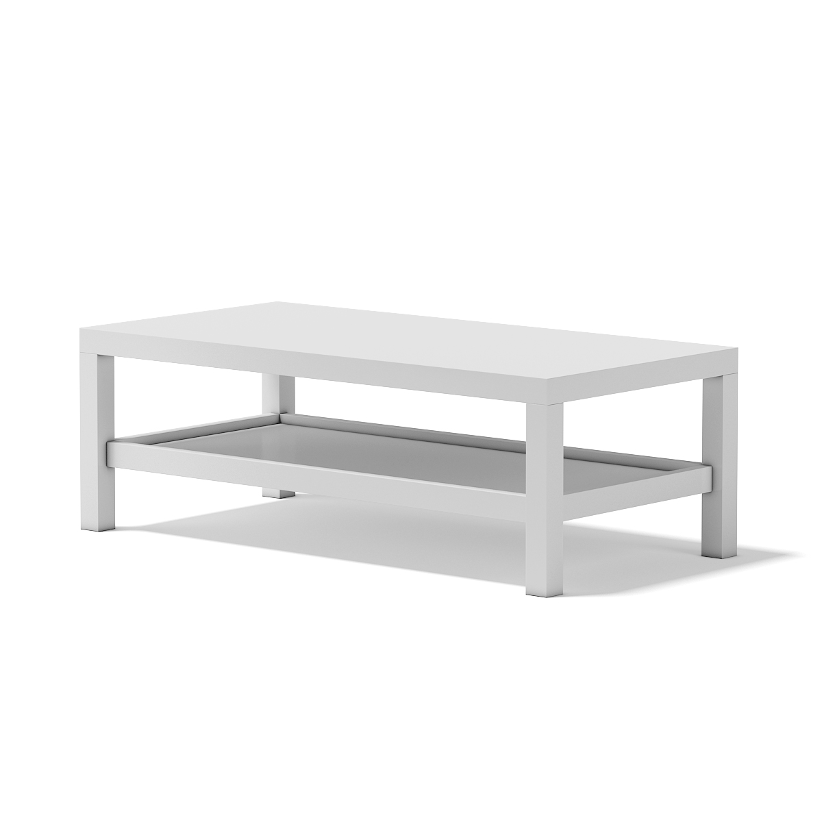 White Rectangular Coffee Table By Cgaxis 3docean