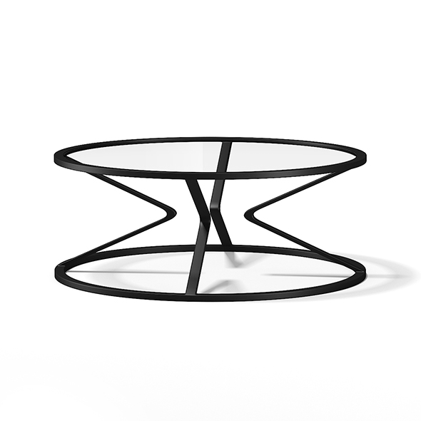 Round Glass Coffee Table - 3DOcean Item for Sale