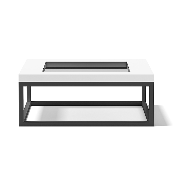 Square Coffee Table with Glass Window - 3DOcean Item for Sale