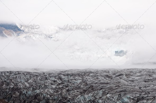 mountain glacier texture - Stock Photo - Images