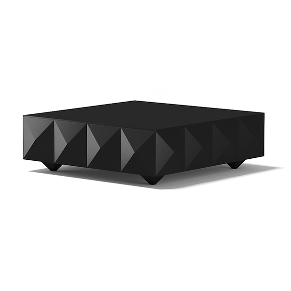 Square Black Coffee Table - 3DOcean Item for Sale