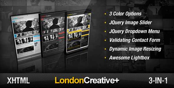 London Creative + ( Portfolio & Blog Template ) - Creative Site Templates