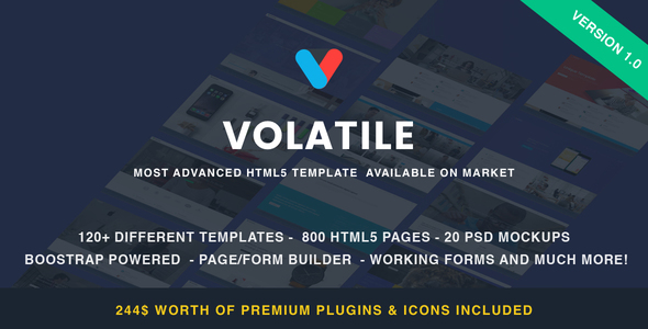 Volatile – Multipurpose HTML Template