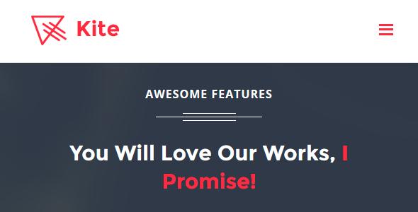 Kite – App Landing Page HTML Template