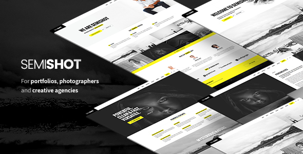 Semishot – Creative WordPress Theme for Portfolios, Photographers and Agencies