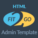 Fit2Go - Beautiful Gym Fitness Admin Template